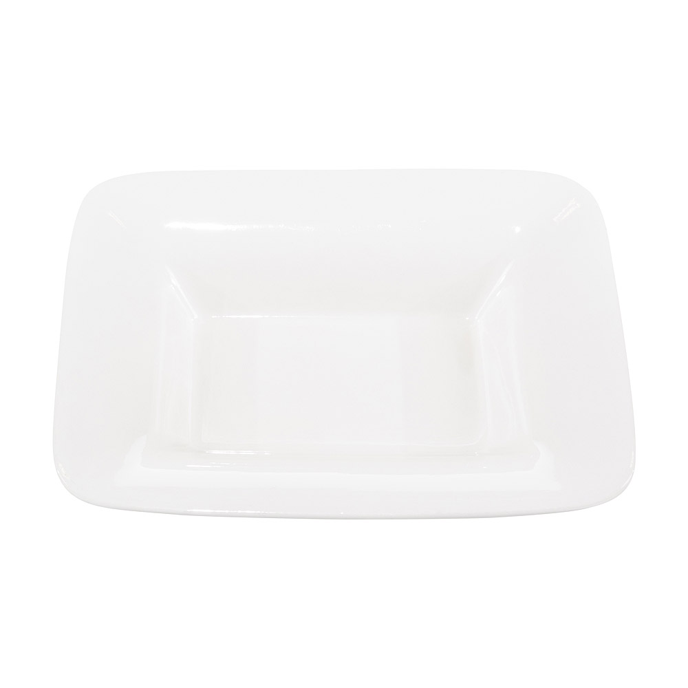 Large White Rectangular Serving Bowl