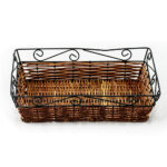 Small Basket with Wire Top