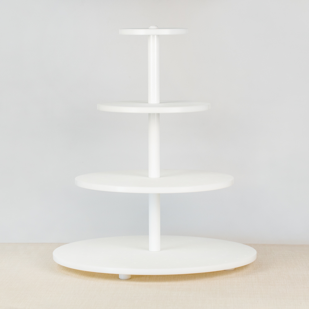 White Cake Pop Tower