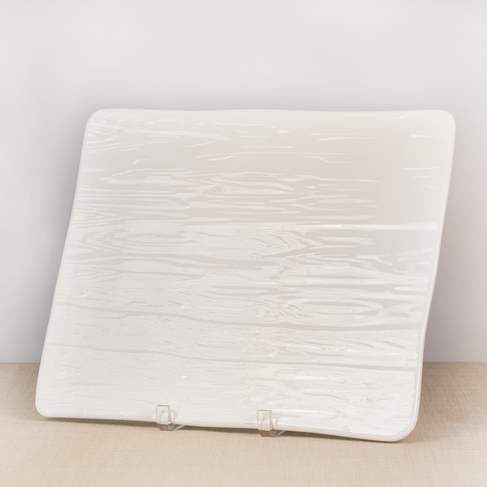 White China Wood Grain Platter