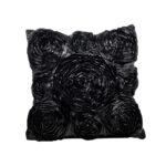 Lounge Pillow Black Rosette Oblong