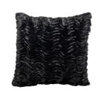 Lounge Pillow Black Wave Square