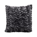 Lounge Pillow Pewter Wave Square