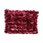 Lounge Pillow Red Floral Oblong