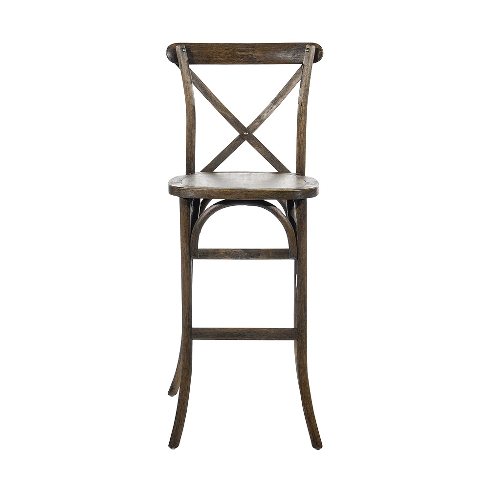 Oak Crossback Bar Stool