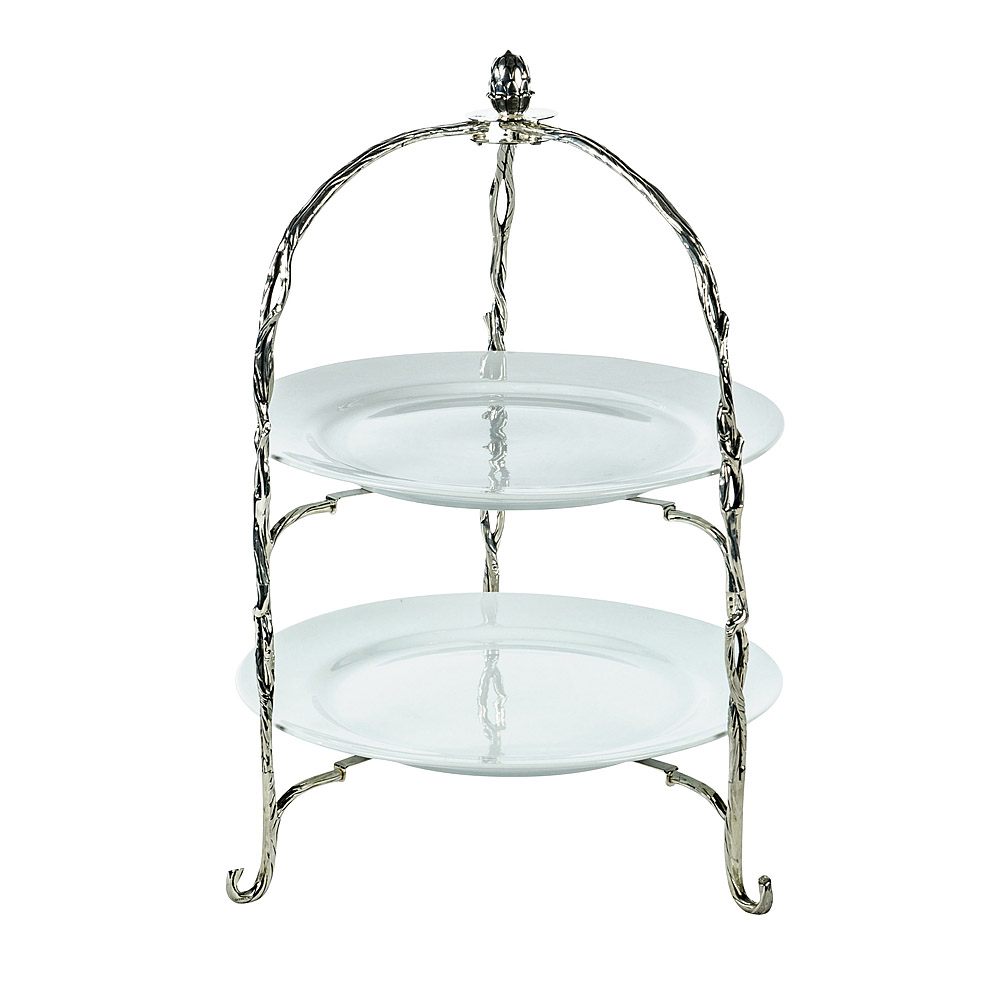 sc 1 st  American Party Rentals & 2-Tier Round Silver Plate Holder | American Party Rentals