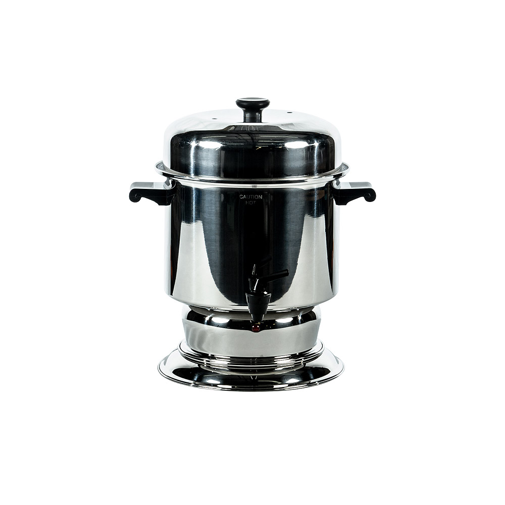 36 Cup Polished Stainless Steel Coffee Maker American Party Rentals
