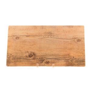 Large Melamine Wood Grain Platter