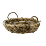 Medium Shallow Round Basket with Two Handles