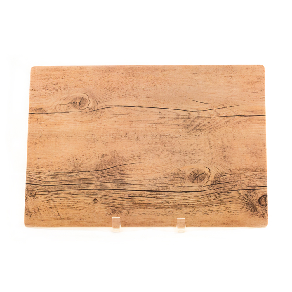 Small Melamine Wood Grain Platter