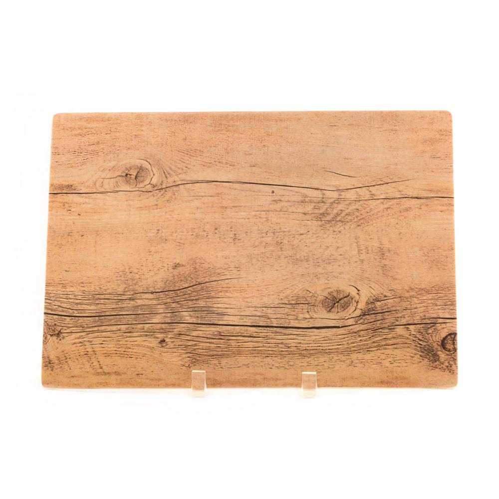 Small Melamine Wood Grain Platter