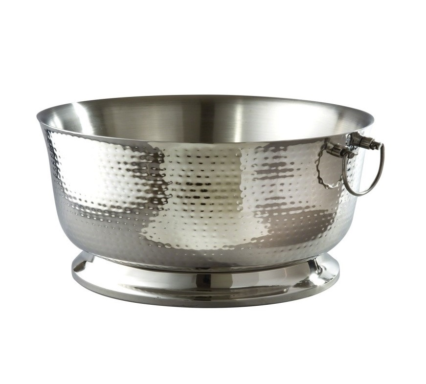 19 Hammered Stainless Steel Insulated Beverage Tub American Party Rentals