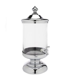 2.5 Gallon Glass/Chrome Beverage Dispenser