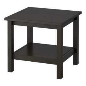 "22"" Square Black-Brown End Table"
