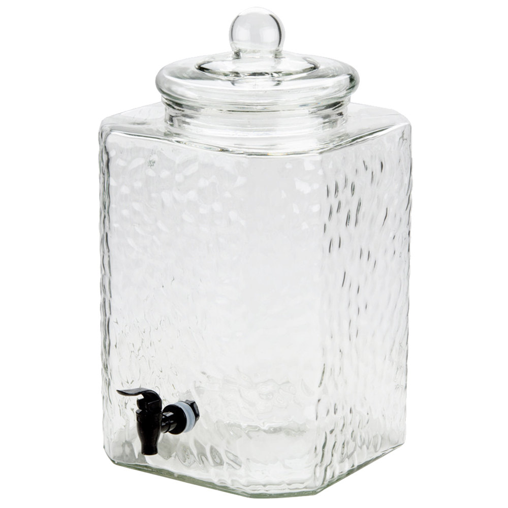 5 Gallon Glass Beverage Dispenser American Party Rentals