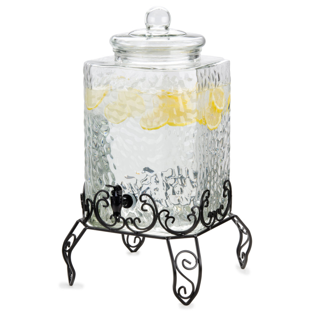 5 Gallon Glass Beverage Dispenser