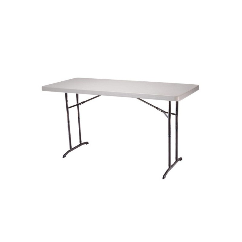 30 x 72 plastic adjustable height table american party rentals. Black Bedroom Furniture Sets. Home Design Ideas