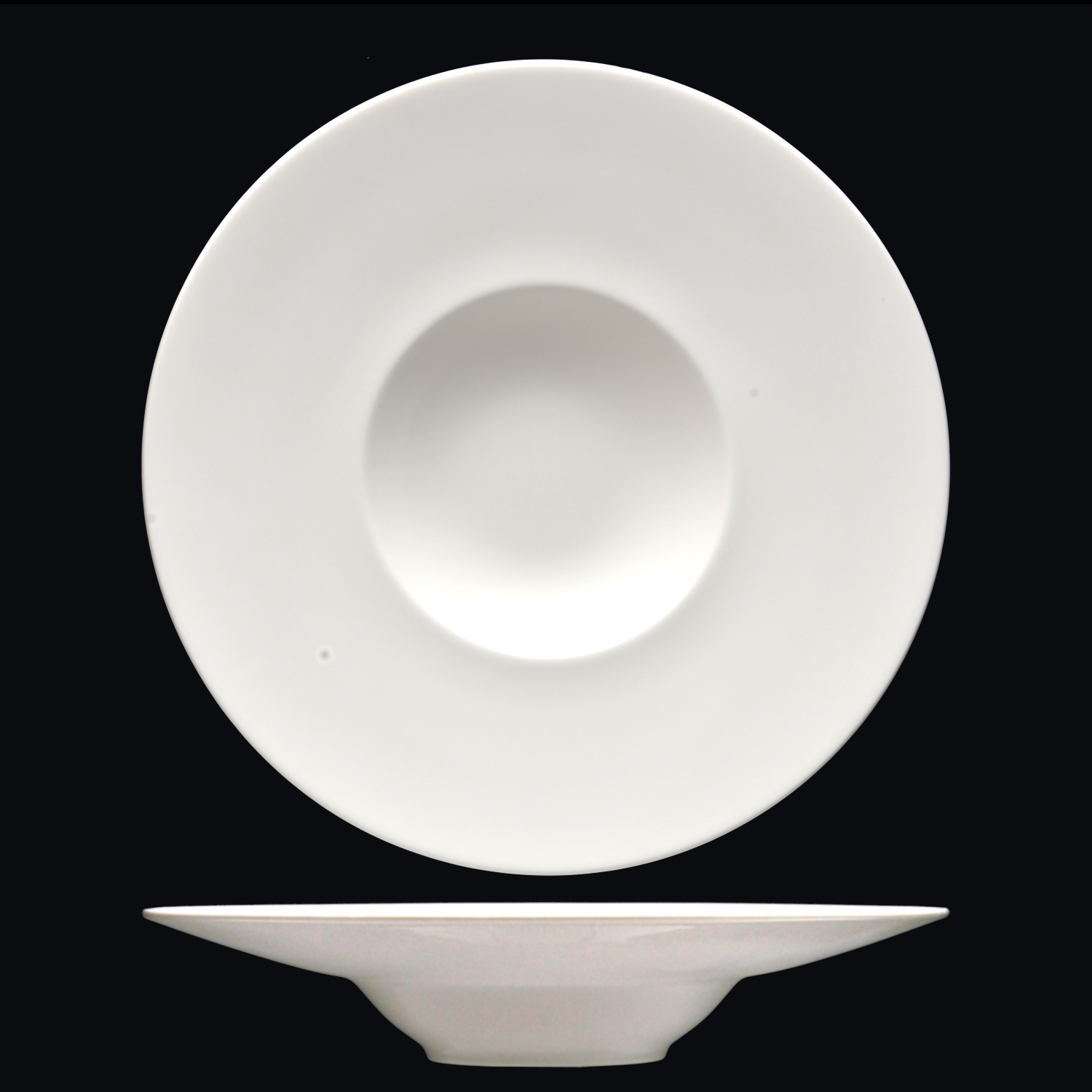 "12.25"" White China Belly Bowl"
