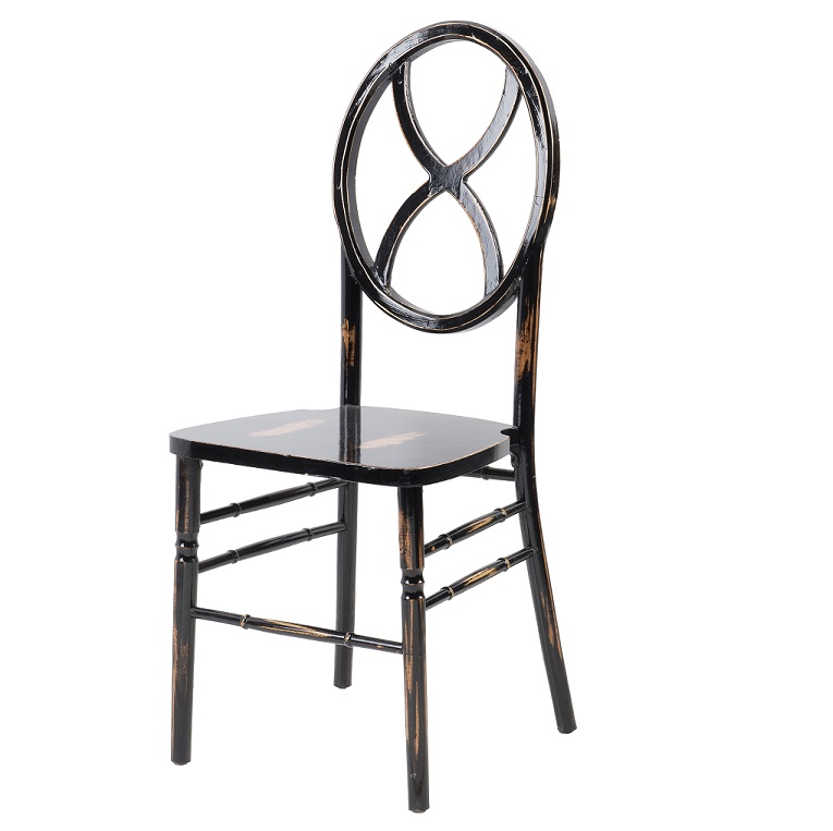 Black Lime Wash Hourglass Chair