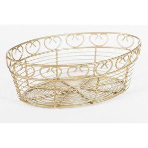 Gold Oval Bread Basket