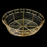 Gold Oval Bread Basket