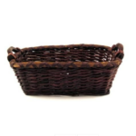 Medium Rectangular Basket with Handles, Dark