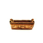 Small Rectangular Basket with Handles