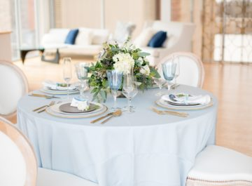 Elegant Blue and White <br> Photo Shoot