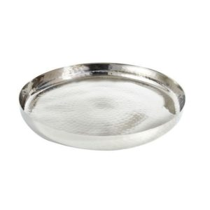 "13"" Round Hammered Gallery Tray"
