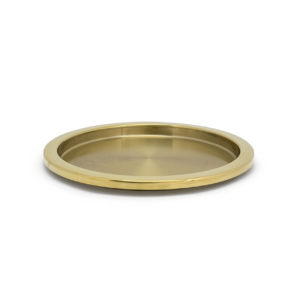 "14"" Round Gold Tray"