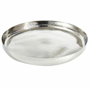 "16"" Round Hammered Gallery Tray"