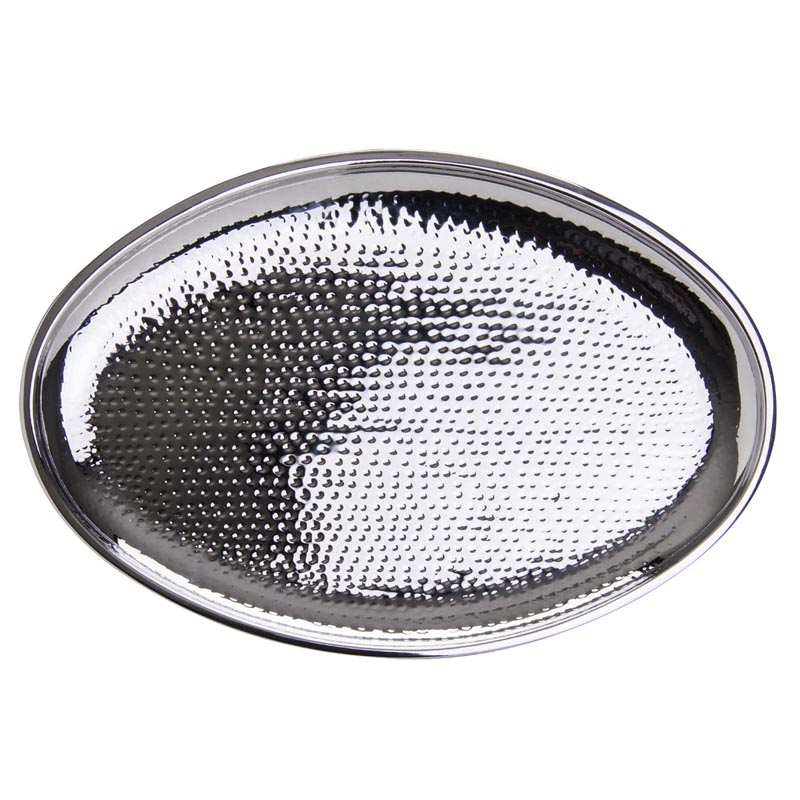 """20"""" x 14"""" Oval Hammered Tray"""