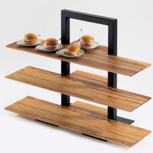 3-Tier Frame Riser With Bamboo Shelves