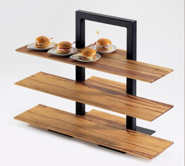 3-Tier Frame Riser With Bamboo Shelves