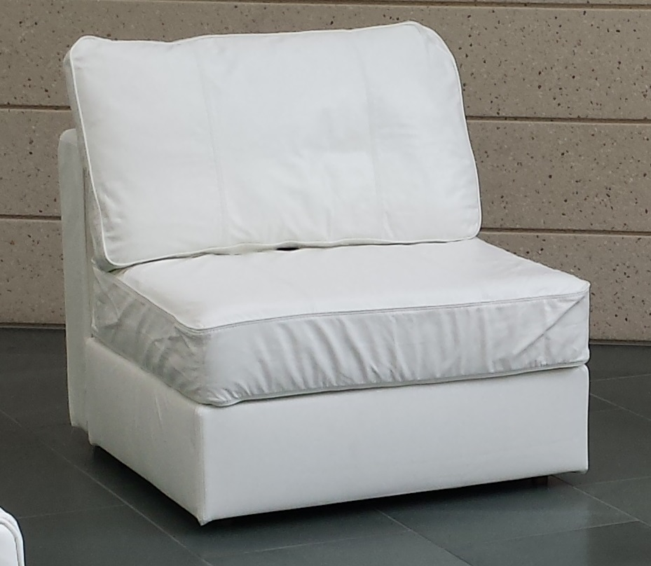 White Leather Lovesac Chair