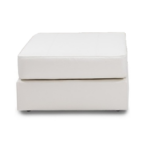 White Leather Lovesac Ottoman