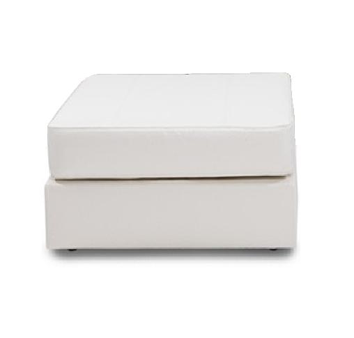 White Leather Lovesac Ottoman