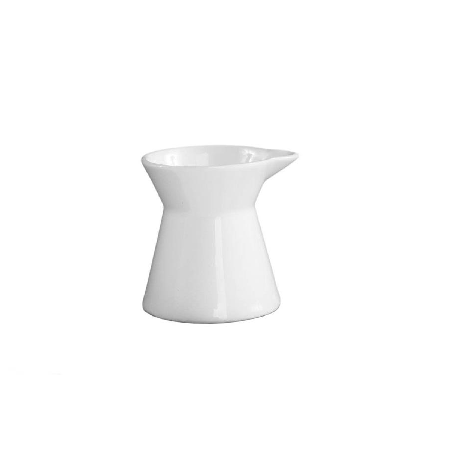 2.75 oz. White China Hourglass Creamer