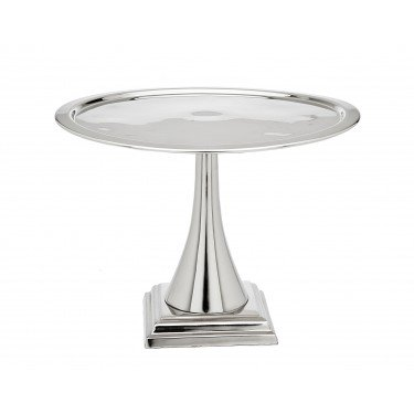 "11"" Round Stainless Steel Cake Stand"