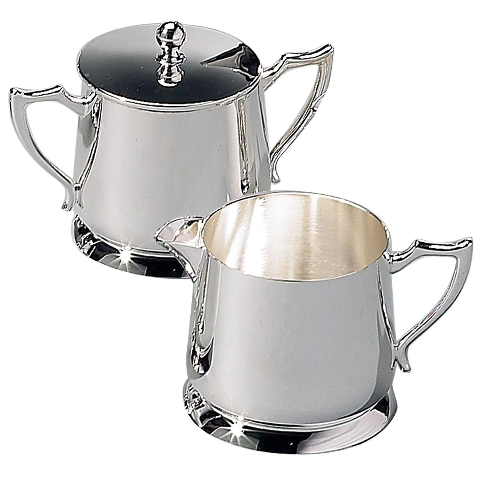 Silver Creamer & Sugar Bowl