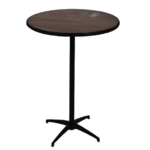 "30"" Round Pedestal Table Espresso Top"